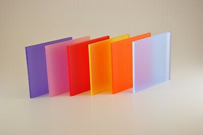 Perspex® Coloured Frosted Acrylic  Plastic Sheet Panel / Size A5 A4 A3 A2 A1