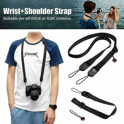 Quick Release DSLR Camera Cuff Wrist Belt &Leash Shoulder Strap Sling-Buckl X9O2