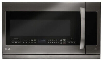 LG - 1 7 Cu  Ft  Over-the-Range Microwave - Stainless steel