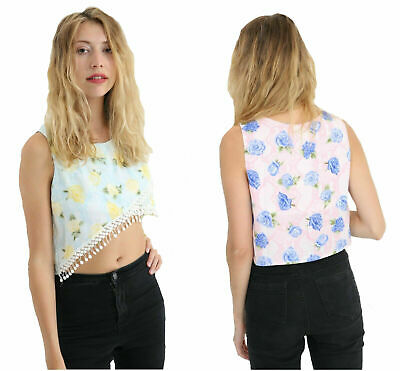 Wholesale Joblot Womens Ladies Floral Printed Cami Swing Vest Strappy Top