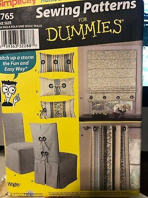 Simplicity home decorating sewing patterns for dummies - pillows, roman shades &