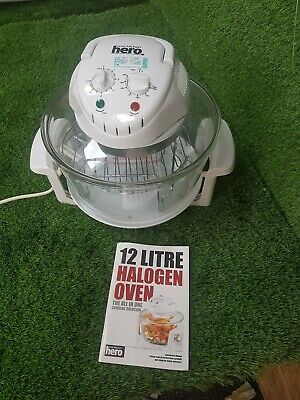 Hero 12 Litre Halogen Oven Convection Cooker 1300W Accessory Pack White