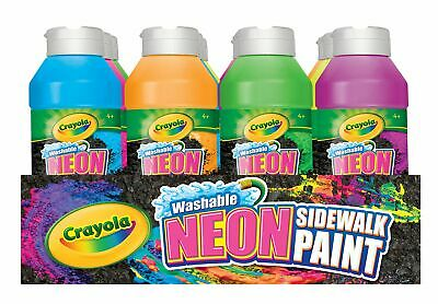 Crayola Washable Neon Sidewalk Paint Variety Pack, 8 Ounce Bottles (12 Count)