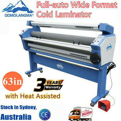 """AU Stock 67"""" Full-auto Single Side Wide Format Hot/Cold Laminator+Stand Frame"""