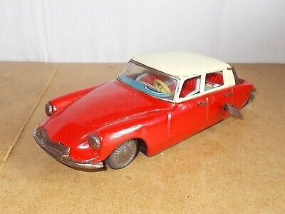 RARE vintage tin toy - MIZUNO made in japan - wind up CITROEN DS working - 60s