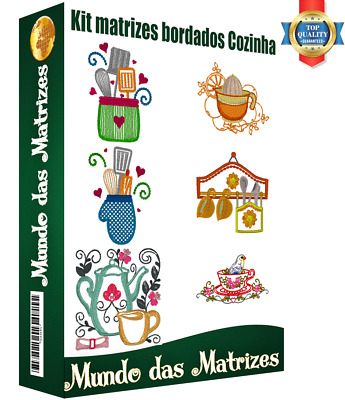 Collection Embroidery Designs Kitchen - Brother, Janome PES-JEF-DST-JEF