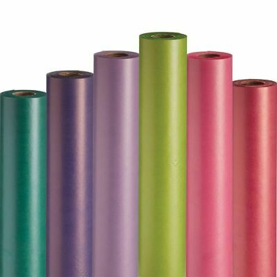 Kraft Wrapping Paper-Floral Parcel Packing- Posting 125M Roll In 12 Colours