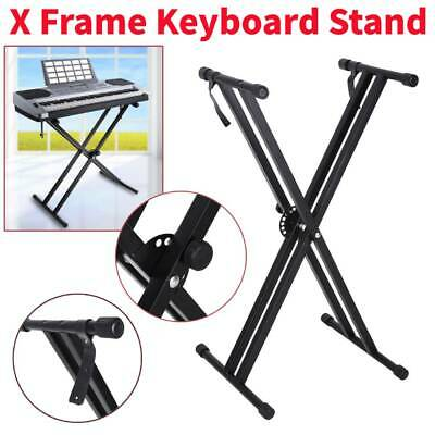Metal X-Style Keyboard Stand Music Electric Organ Holder Adjustable Height UK