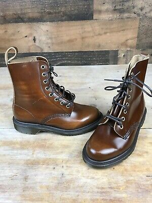 0bd08d16b7c DR MARTENS ARTHUR Made In England Boanil Brush Leather Boots US Size ...