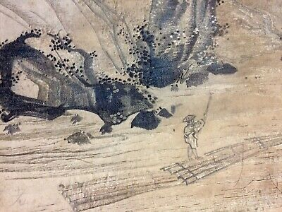 17th C Chinese Silk Tapestry Embroidery Scroll For Japanese Market Lovely
