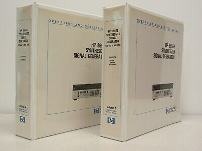 HP / Agilent HP 8656B Synthesized Signal Generator OPS/SVC Manual 2 Volume Set