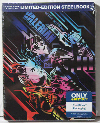 Best Buy VALERIAN CITY OF A THOUSAND PLANETS Limited STEELBOOK BLU RAY DVD New