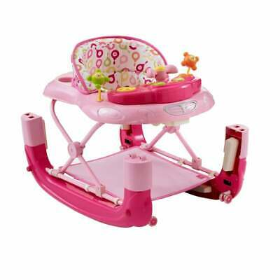 MyChild Walk N Rock Baby Walker Rocker - Pink