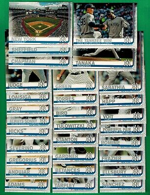 2019 Topps Baseball New York Yankees Series 1 & 2 complete Team Set (30 cards)