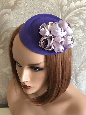Lavender Lilac Pillbox hat wedding fascinator races Kentucky Hair Fascination