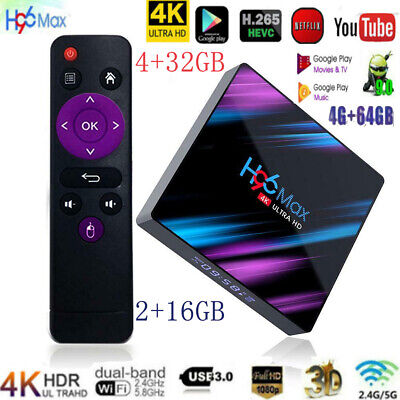 H96 MAX RK3318 Smart TV BOX Android 9.0 4GB 64GB Quad Core 1080p 4K Set Top Box