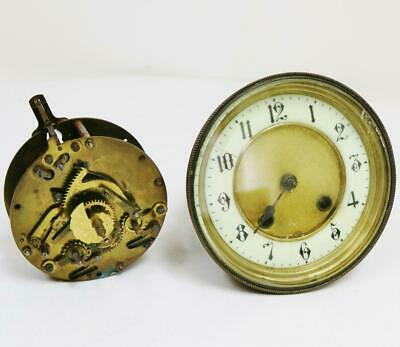 Pair Antique German 8 Day Mantel Clock Striking Movements Spares or Repair Parts
