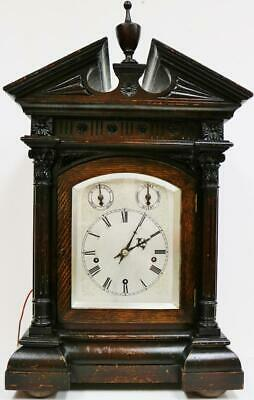 Antique German 8 Day Architectural Musical Westminster Chime 5Gong Bracket Clock