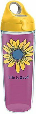Tervis 1285468 Life is Good - Sunflower Tumbler with Wrap and Yellow Lid 24oz Wa