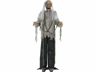 5 Ft Animated Zombie Prop Halloween Life Size Spirit Haunted House Spirit Sound