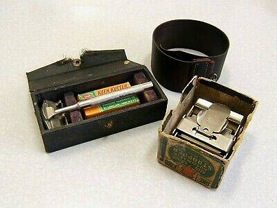 Antique KEEN KUTTER Safety Razor Shaving Outfit with Stropper