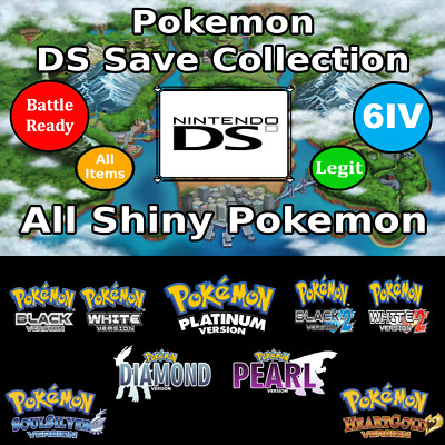 Unlocked Pokemon DS Save Collection | Gold Pro | All Shiny Pokemon! | 3DS DS