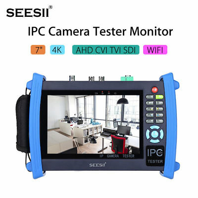"7"" IPC Tester CCTV Camera Monitor AHD TVI CVI SDI CVBS Analog 8GB/WIFI/PoE Test"
