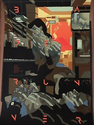 Tomer Hanuka Blade Runner Screen print 24x36 inches ed /45