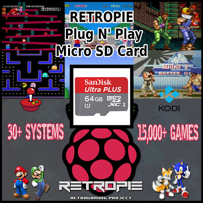 RETROPIE MICRO SD card 128gb for Raspberry Pi 3B+ retro game console