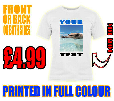 Personalised Unisex Adult Stag Hen Kids Custom Printed T-Shirt Your Text Photo