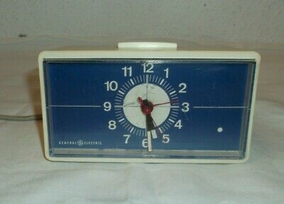 1950s the 60's General Electric Table Clock Grandfather Alarm 50s 60s