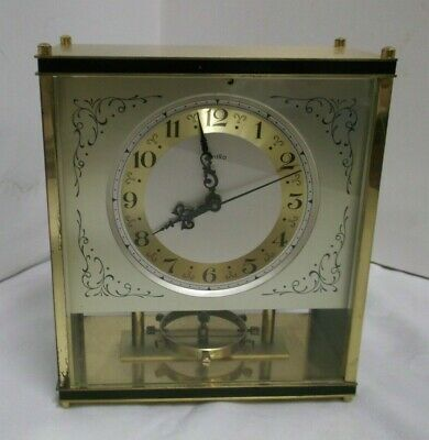 1950s the 60's Zentra Fireplace Clock Pendeluhruhr Mechanical Brass Clock 50s