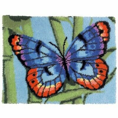 BUTTERFLY LATCH HOOK RUG KIT from UK Seller, BRAND NEW