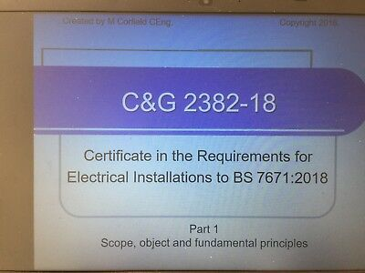 IET 18th Edition Wiring Regulations Teaching Material Practice Questions