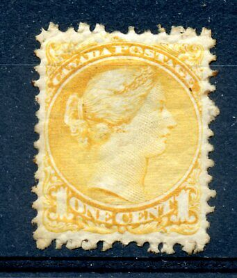 Weeda Canada 35 VF mint 1c yellow Small Queen, NH browned gum CV $60+
