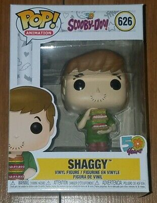 Funko Pop Animation #626 Shaggy with Sandwich Scooby-Doo 50 Years In Hand Now