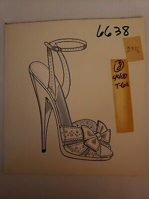 Original Concept Art Frederick's of Hollywood-Advertising-Shoes-White OpenToe