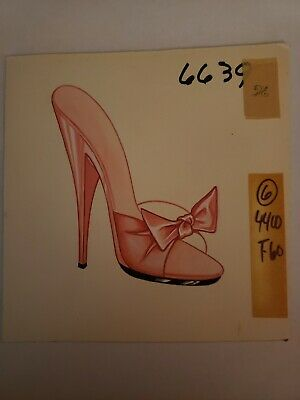 Original Concept Art Frederick's of Hollywood-Advertising-Shoes-Pink Bow Heel