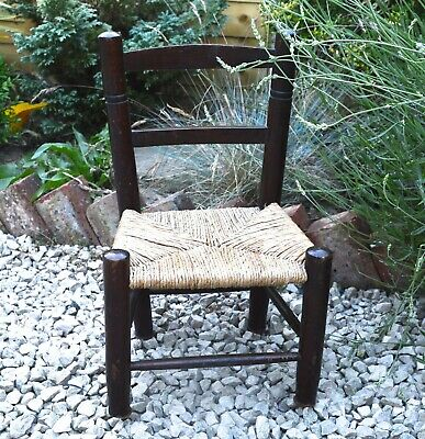 Woven Chair Childs Chair Mid Century Baby Chair Vintage Chair Vintage Home Decor