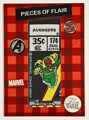 2019 Upper Deck Marvel Flair Pieces of Flair Comic Corner Patch VISION POF-1