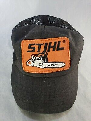detailed look e0496 9df5e Stihl Patch Snapback Vtg Work USA Snap Back Trucker Hat Mesh Cap Legend  Emb..