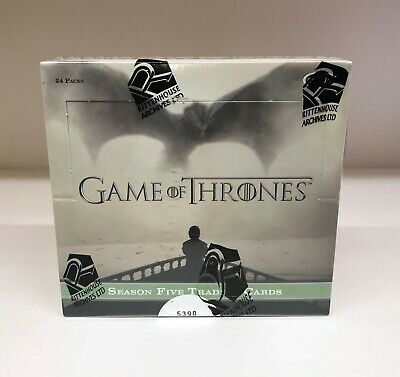 Game of Thrones Season 5 Five - Sealed Trading Card Hobby Box - Rittenhouse 2016