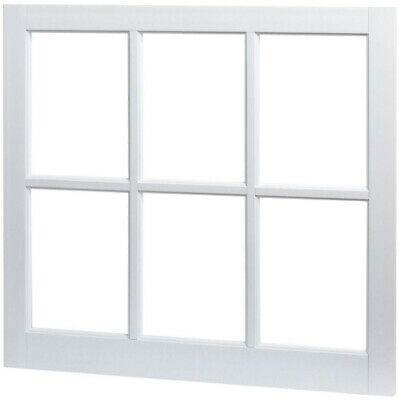 Utility Fixed Picture Vinyl Window with Grid White 22 in x 29 in.