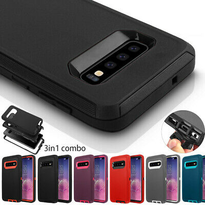 Samsung Galaxy S10+ S10e Case Shockproof Hybrid Rugged Rubber Heavy Duty Cover