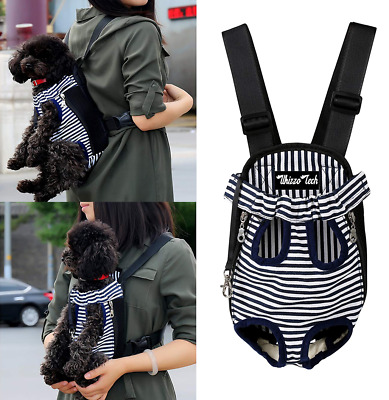 Nylon Mesh Pet Carrier Bag Front Kangaroo Striped dog Cat Puppy Backpack Tote US
