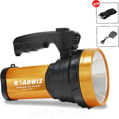 Rechargeable LED Searchlight Handheld Spotlight Flashlight Camping Hiking Torch