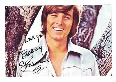 Bobby Sherman Signed Autographed 4 x 6 Photo Actor Singer