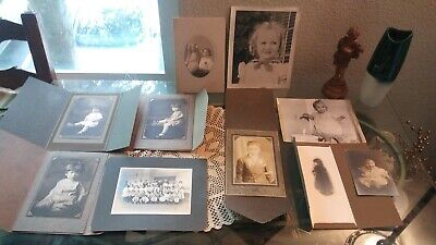Nice Lot Of 10 Various Antique & Vintage Mixed Photos All Beautiful Children