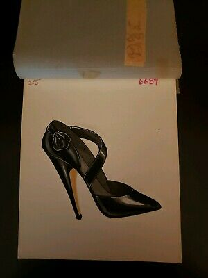 Original Concept Art Frederick's of Hollywoo-Advertising-Shoes-Black Pointy Toe