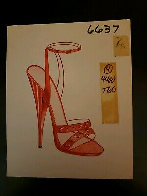 Original Concept Art Frederick's of Hollywood-Advertising-Shoes-Red Double Strap